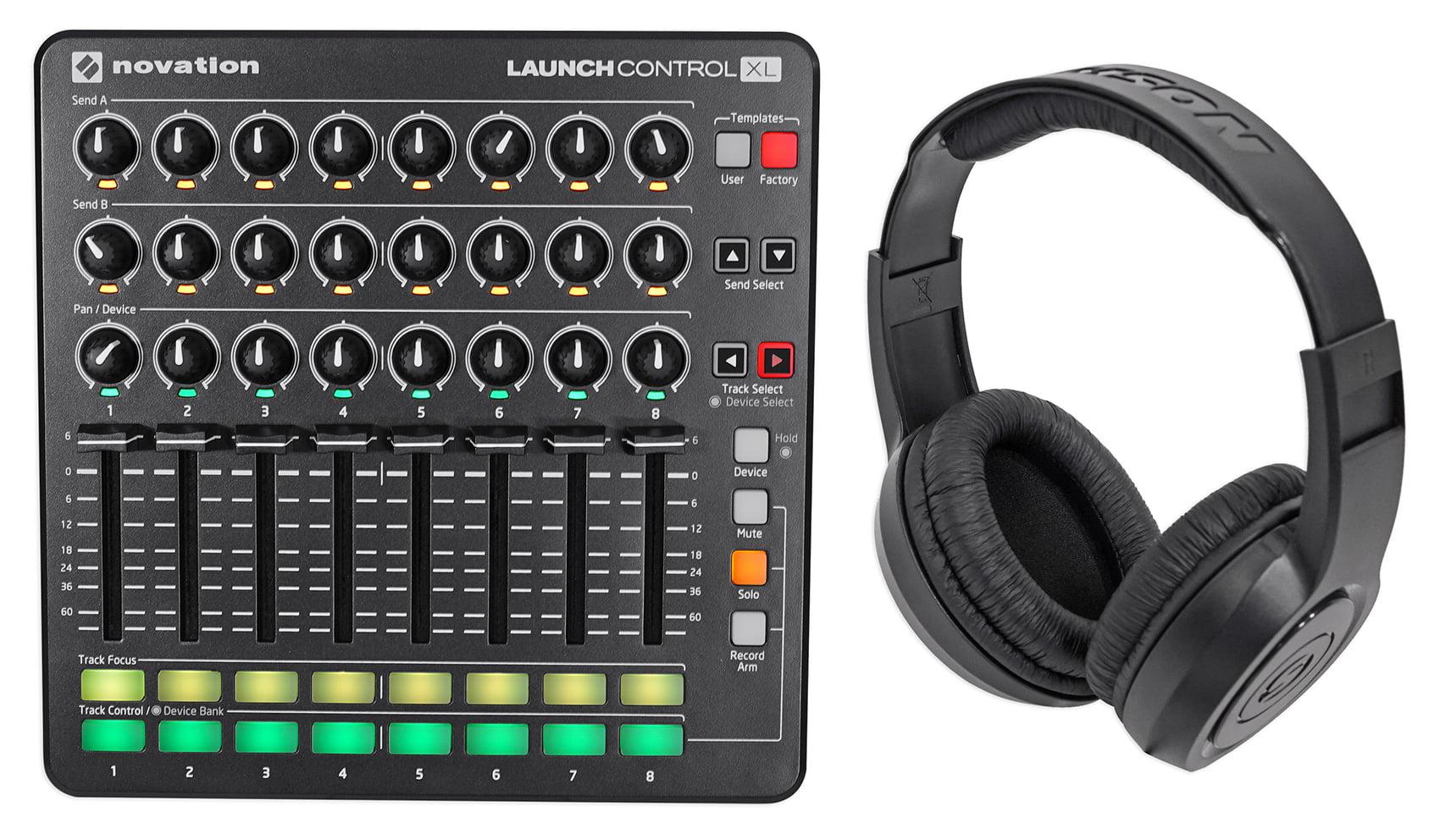 Novation Launch Control XL MIDI USB Ableton Live Controller + Samson Headphones by NOVATION