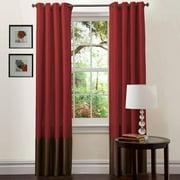 "Prima Red/Chocolate Window Curtains, Pair, 54"" x 95"""