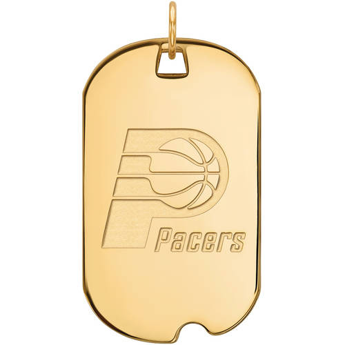 NBA Indiana Pacers 14kt Yellow Gold Large Dog Tag
