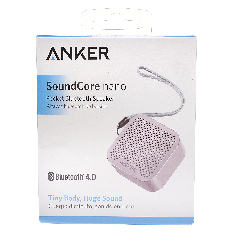 Anker Pink SoundCore Nano Pocket Bluetooth Speaker