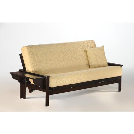 Seattle Queen Futon Frame In Chocolate Finish