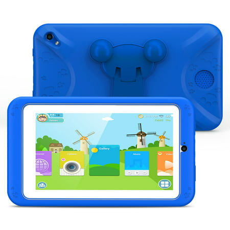 【Upraded】Kids Tablet, 7 Inch Android 6.0 with 1GB RAM 8GB ROM Dual Camera WiFi USB Kids Software Edition Kids Tablet PC, Safety Eye Protection, Best Gift for