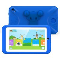 Kids Tablet 7 inch Display,Kids Mode Pre-Installed,with WiFi,Bluetooth and Dual Games,Quad Core Processor,1024x600 IPS HD Display With Protective Case