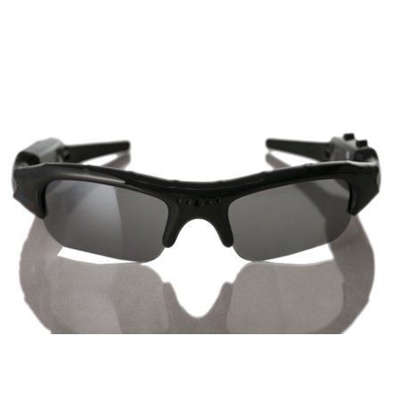 Sport Camera Rechargeable Spy Video Glasses Covert Surveillance + Sun Protection