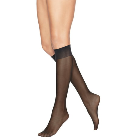 a6718f4f839 Hanes - Leggs Everyday Women s Light Sheer Knee High Hosiery 10-Pair -  Walmart.com