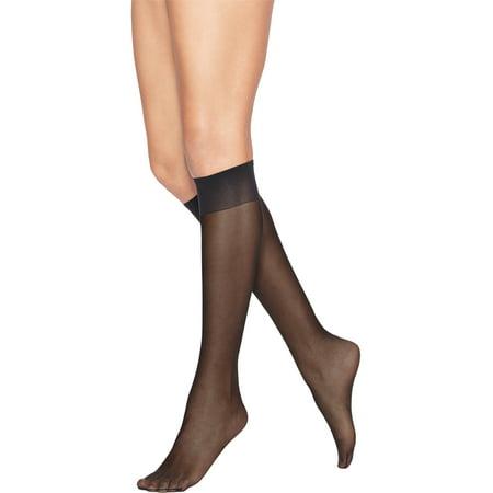 Crew Womens Hosiery - Leggs Everyday Women's Light Sheer Knee High Hosiery 10-Pair