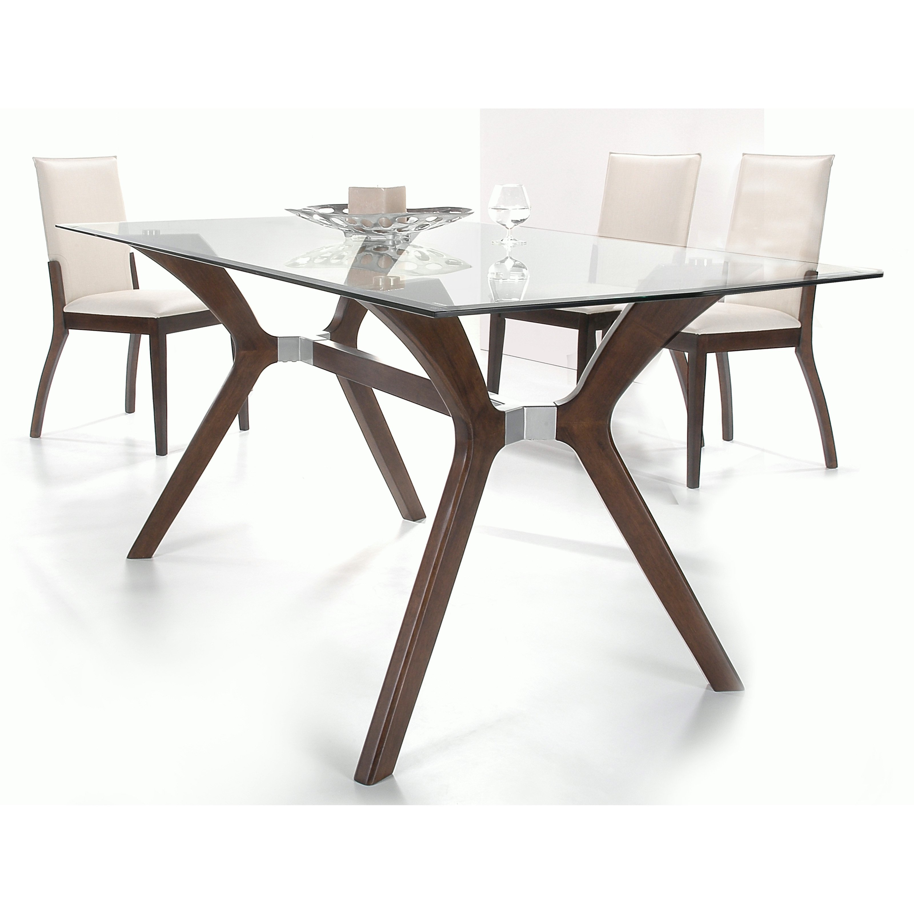 Chintaly Luisa 5 Piece Rectangular Dining Table Set