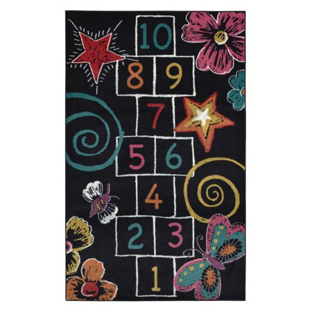 Mohawk Home Kids Interactive Hopscotch Chalk Area Rug