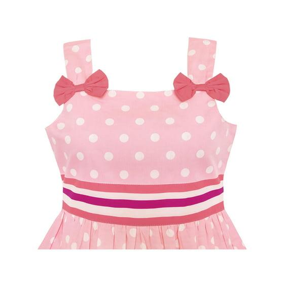 31ff132b Sunny Fashion - Girls Dress Cartoon Polka Dot Bow Tie Summer Sundress 8 -  Walmart.com