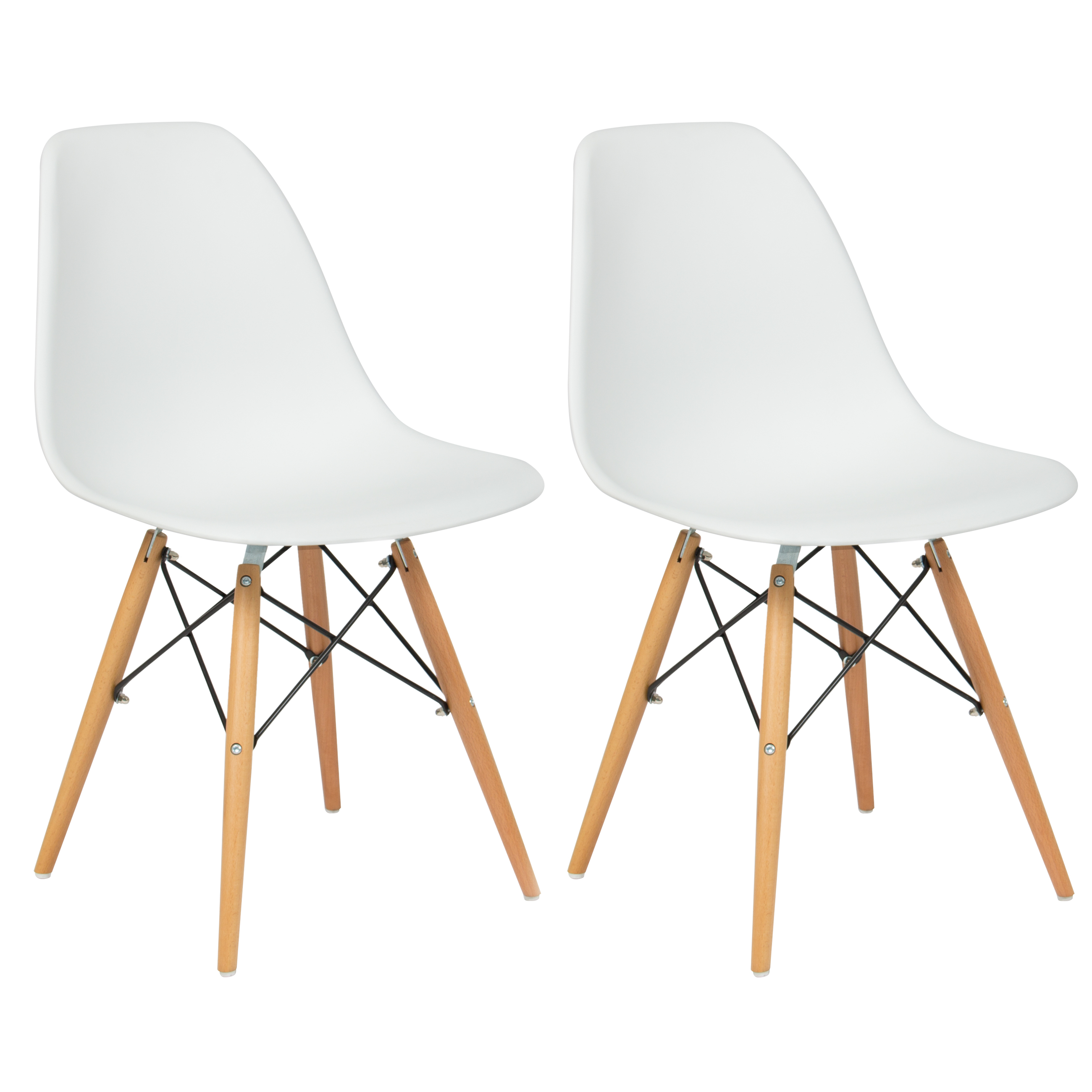 Molded Plastic Dining Chairs set of (2) eames style dining chair mid century modern molded