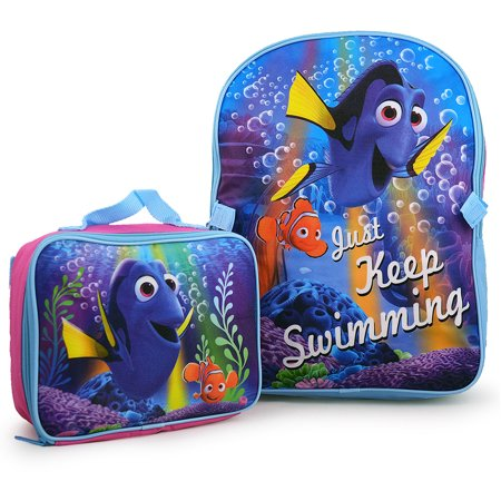 97efb31f018 Disney - Pixar Finding Dory Just Keep Swimming Backpack and Lunch ...
