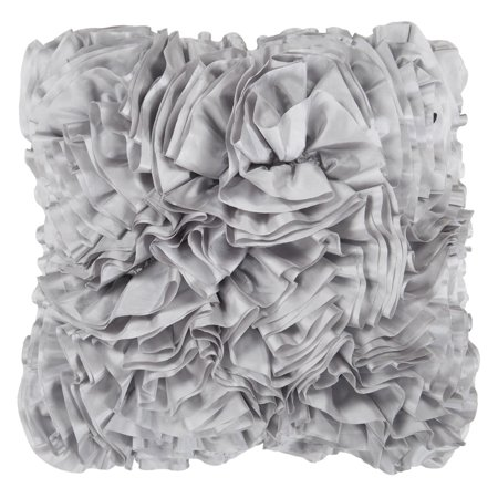 Light Gray Decorative Pillow : Surya Ruffles Decorative Pillow - Light Gray - Walmart.com