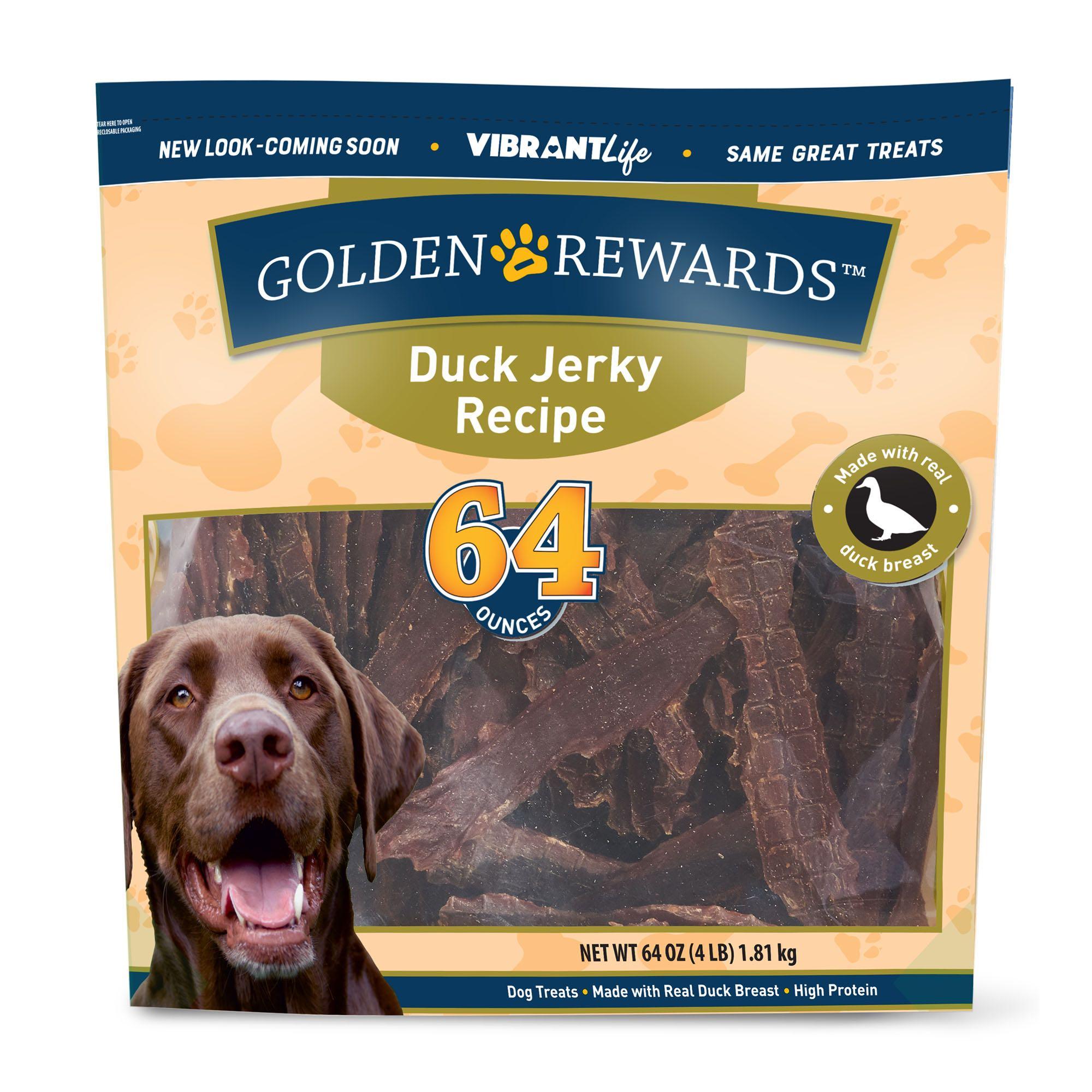 Golden Rewards Duck Jerky Recipe Dog Treats
