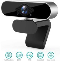 USB Webcam with Microphone,1080P PC Webcam HD Laptop Webcam Streaming Computer Web Camera with 120-Degree View Angle, Plug and Play Desktop Webcam for Video Calling Recording Conferencing