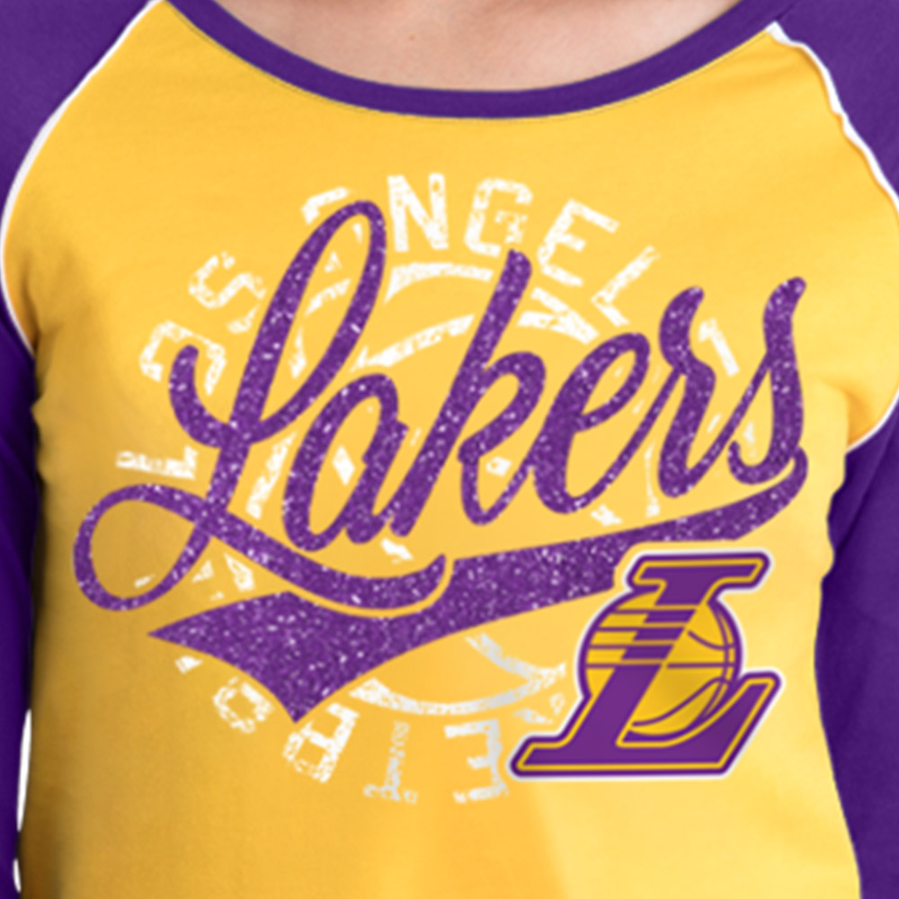 Los Angeles Lakers Women's NBA Long Sleeve Baby Jersey Crew Neck Tee