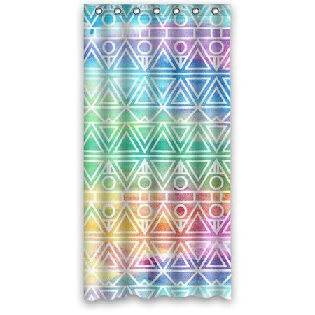 MOHome Abstract Aztec Rainbow Shower Curtain Waterproof Polyester ...