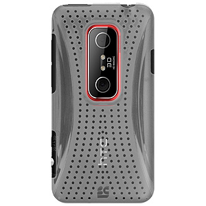 HTC Case, Slim Click On Hard Shell Snap On Protective Case Impact Defender Cover for HTC EVO V 4G, HTC EVO 3D - Clear