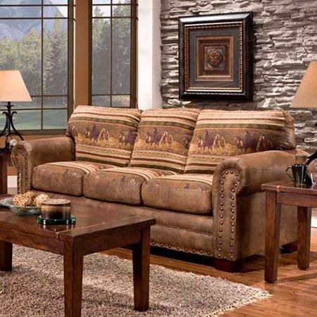 american furniture living room. American Furniture Classics Wild Horses Sofa  Walmart com
