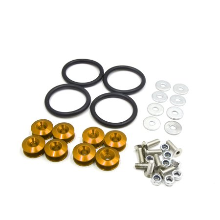 Trunk Or Treat Kits (8pcs Gold Tone Quick Release Bumper Trunk Fender Hatch Lid Fastener Kit for)