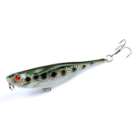9.9cm 9.9g Pencil Fishing Lure Top Water Hard Lures Baits Artificial Hard Bait Fishing Tackle (Pencil Top Eraser Heart)
