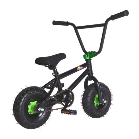 "KOBE Mini BMX Trick Bike - Off-Road to Skate Park, Freestyle, Trick, Stunt Bicycle 10"" Wheels for Adults and Kids - Green - image 4 de 12"