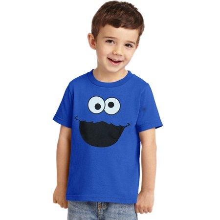 Sesame Street Cookie Monster Face Toddler T-Shirt (Cookie Monster Tie)