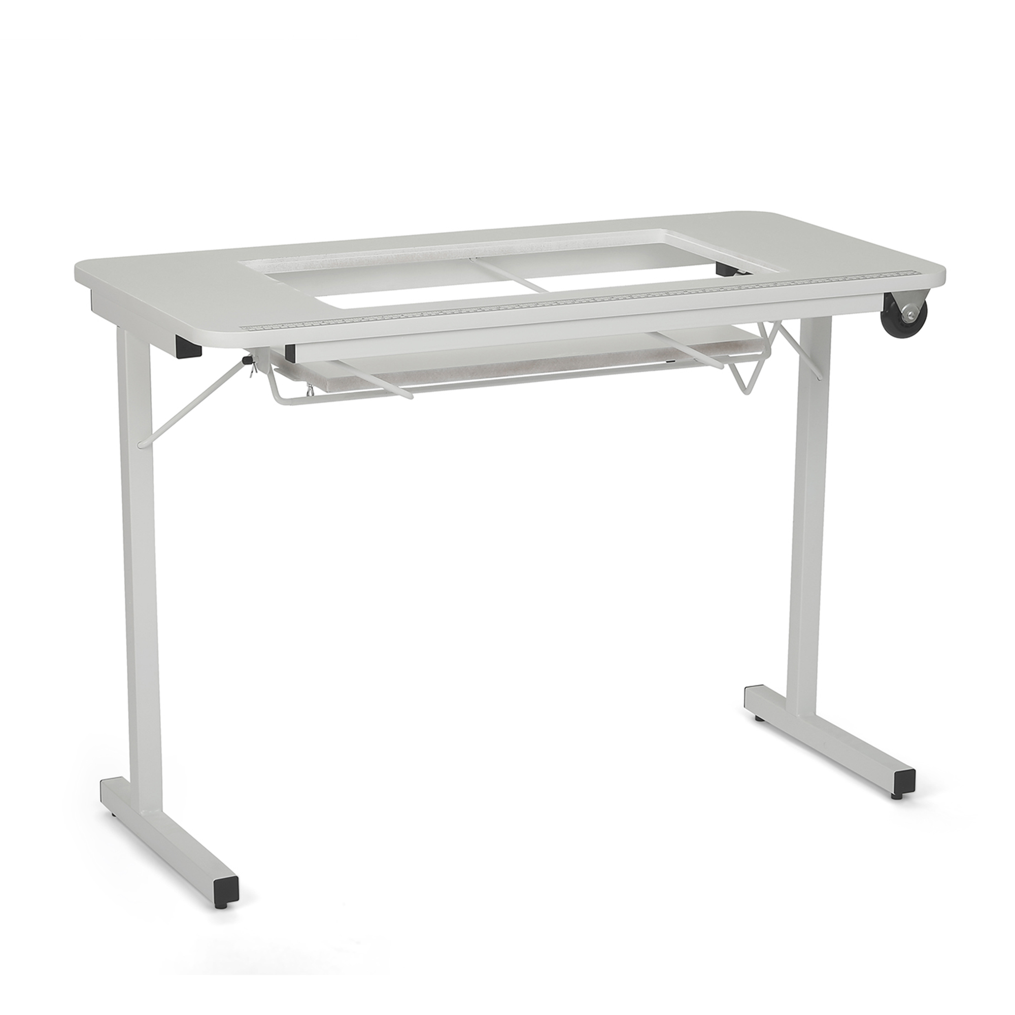 Arrow Gidget Folding Sewing and Craft Table II, Clean White