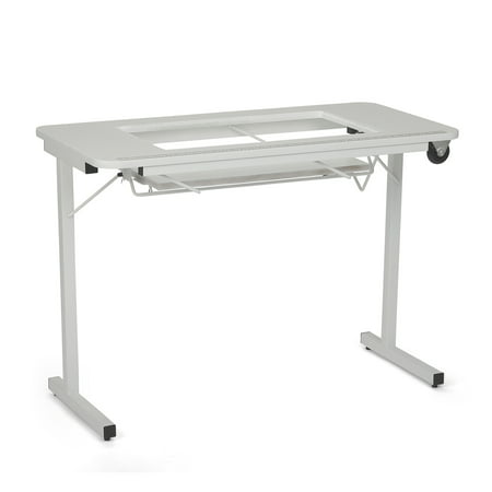 Arrow Gidget Folding Sewing and Craft Table II, Clean White (Homemade Craps Table)
