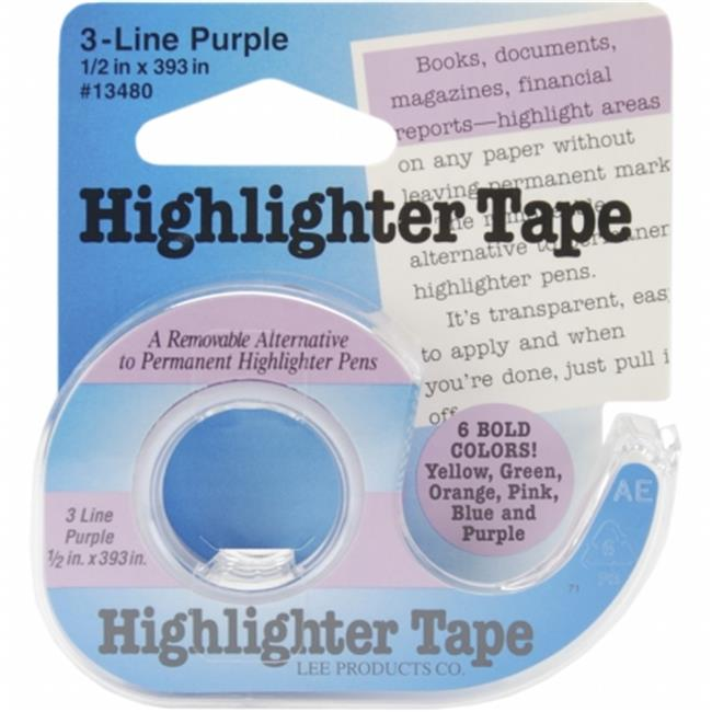 Lee Products 134-80 Highlighter Tape 1-2 inch x 393 inch-Purple