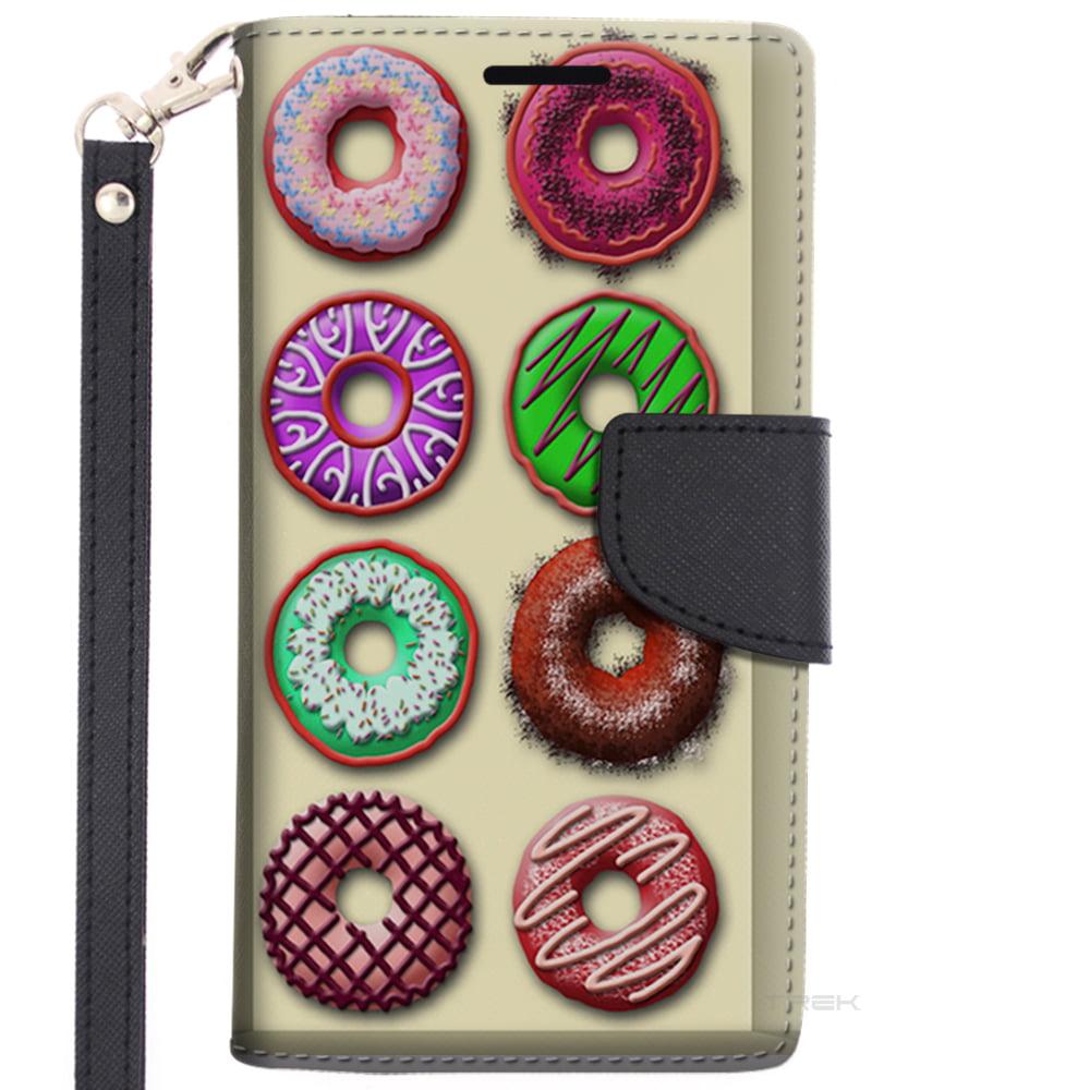 Samsung Galaxy S6 Wallet Case - Box of Colorful Dounuts