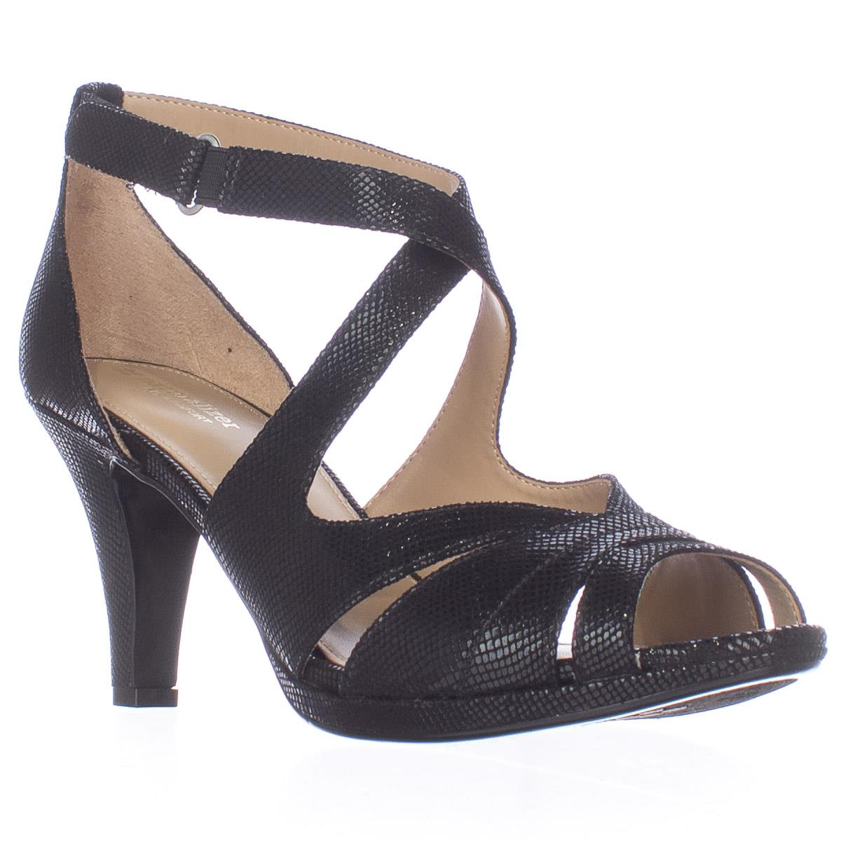 Womens Naturalizer Imperial Strappy Dress Sandals Black Snake by Naturalizer