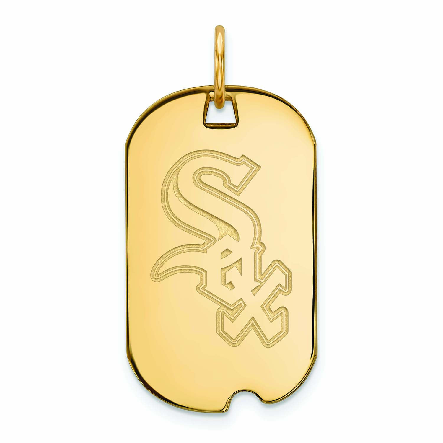 Chicago White Sox Women's Gold-Plated Small Dog Tag Necklace - No Size