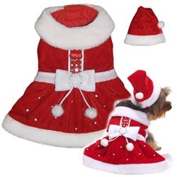 Santa Paws Dress Mrs. Claus Dog Harness Costume - Mrs Santa Claus Costume