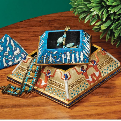 Design Toscano Egyptian Pyramid of Hidden Treasures Box
