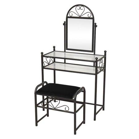 Ktaxon Vanity Table Dresser Vintage Mirror Heart Large Dressing Iron Make-up Black - Vintage Vanity Mirror