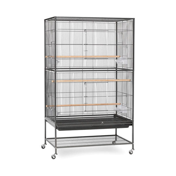 Prevue Pet Products Wrought Iron Flight Cage With Stand Black Hammertone Walmart Com Walmart Com