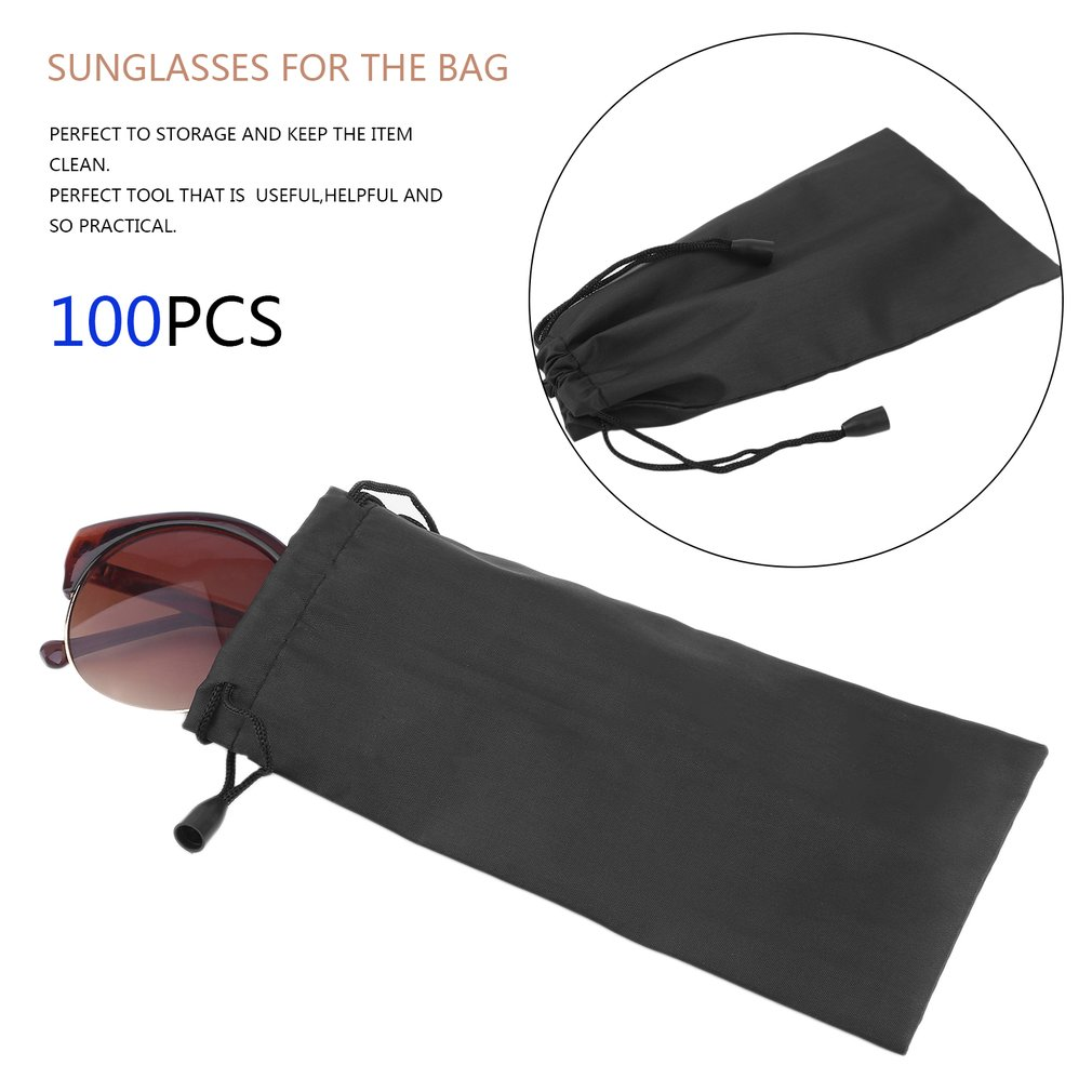 100pcs Micro Fiber Eyeglasses Sunglasses Carrying Pouch Case Jewelry Coins Watches Electronic Gadgets Phone Storage Bag by konxa