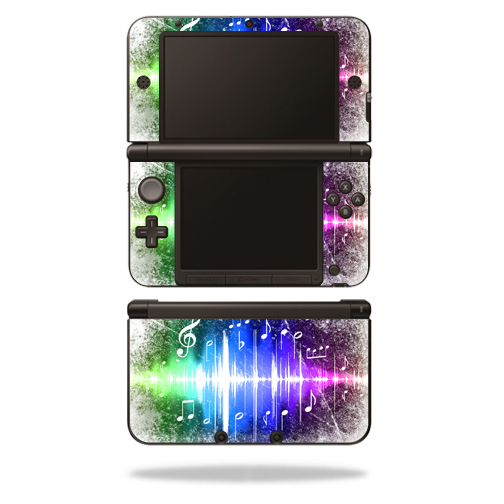 MightySkins Protective Vinyl Skin Decal Cover for Nintendo 3DS XL Original (2012-2014 Models) Sticker Wrap Skins Music Man