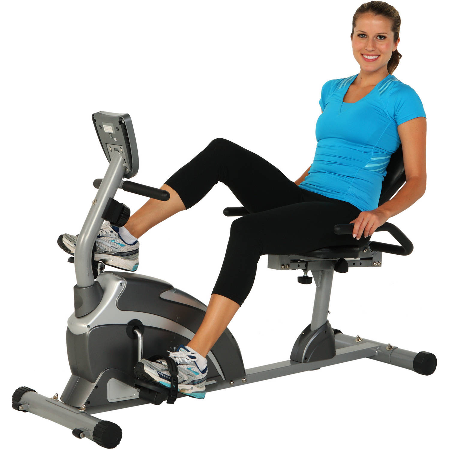 Exerpeutic 1000 High-Capacity Magnetic Recumbent Exercise Bike with Pulse