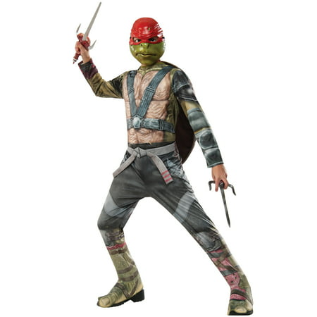 TMNT 2 Raphael Child Costume (Ninja Costume With Weapons)