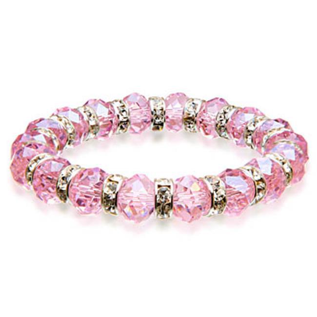 Alexander Kalifano BLUE-BGG-23 Gorgeous Glass Bracelet - Rose Quartz