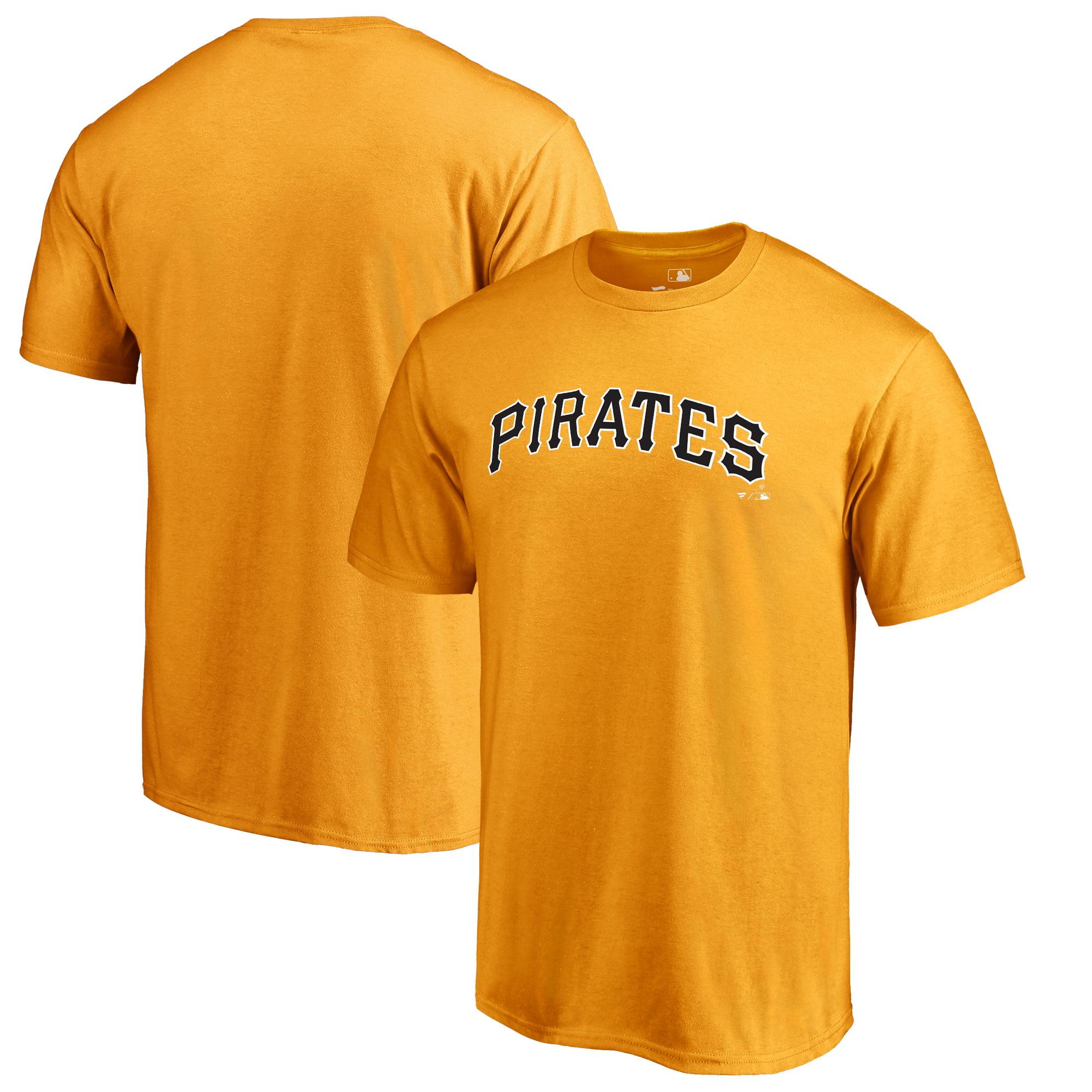 Pittsburgh Pirates Fanatics Branded Team Wordmark T-Shirt - Gold