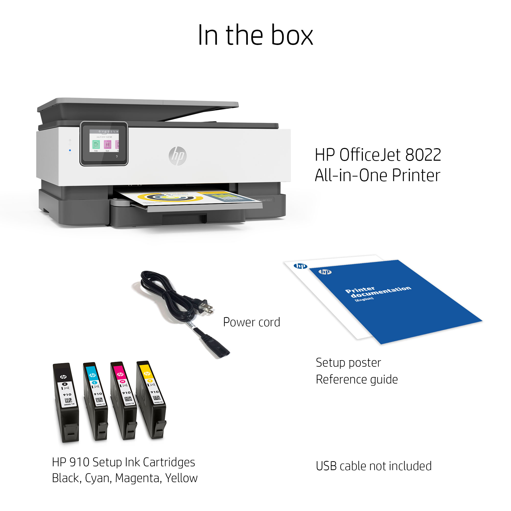 HP OfficeJet 8022 All-in-One Wireless Printer, with Smart