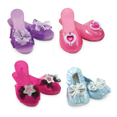 Melissa & Doug 4 Style Dress-Up Shoes, Role Play Collection - Hippy Dress Up