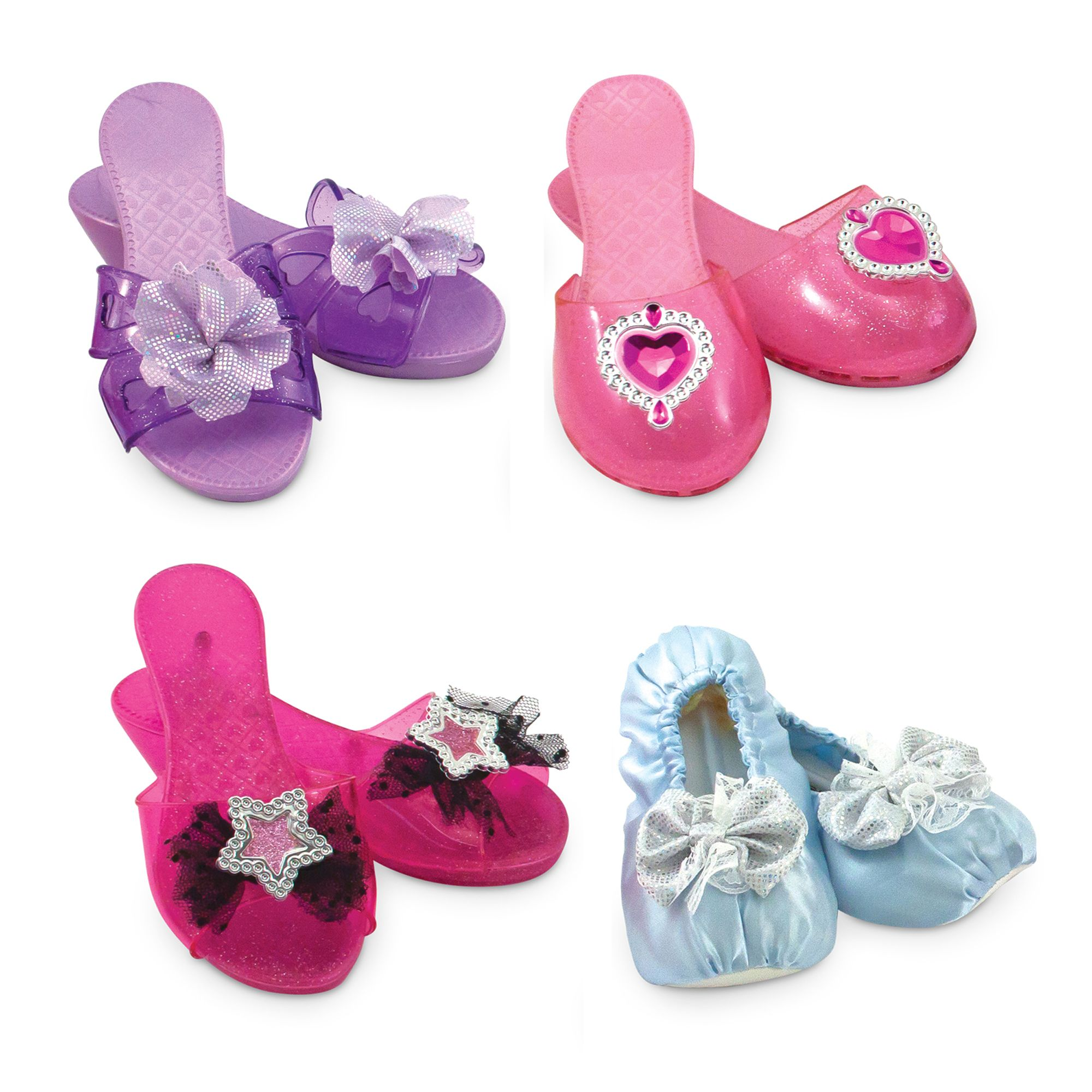 Melissa & Doug 4 Style Dress-Up Shoes, Role Play Collection