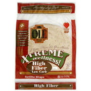 Ole Mexican Xtreme Wellness High Fiber Low Carb Tortilla Wraps, 12.7 oz (Pack of 6)