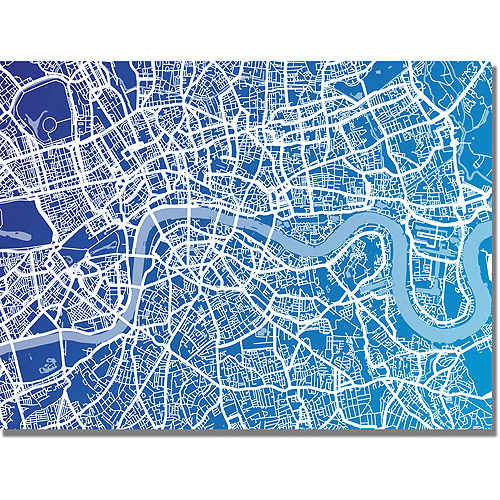 "Trademark Art ""London Map"" Canvas Art by Michael Tompsett"