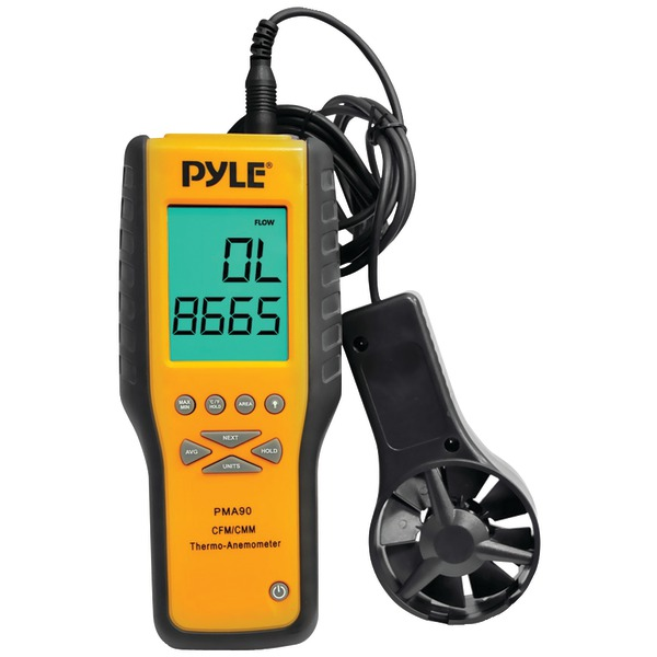 Pyle--PMA90-Digital-Anemometer---Thermometer-for-Air-Velocity-Air-Flow-Temperature
