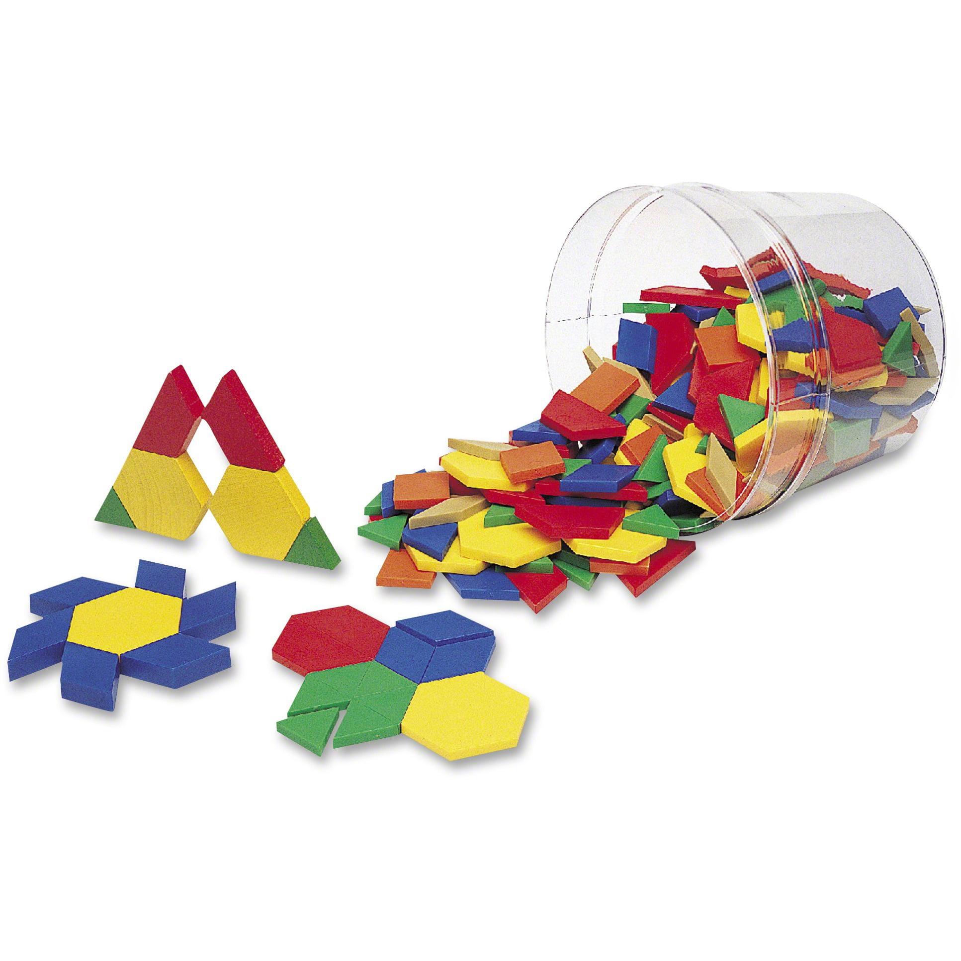 Learning Resources, LRNLER0134, Plastic Pattern Blocks Set, 250 / Set, Multi