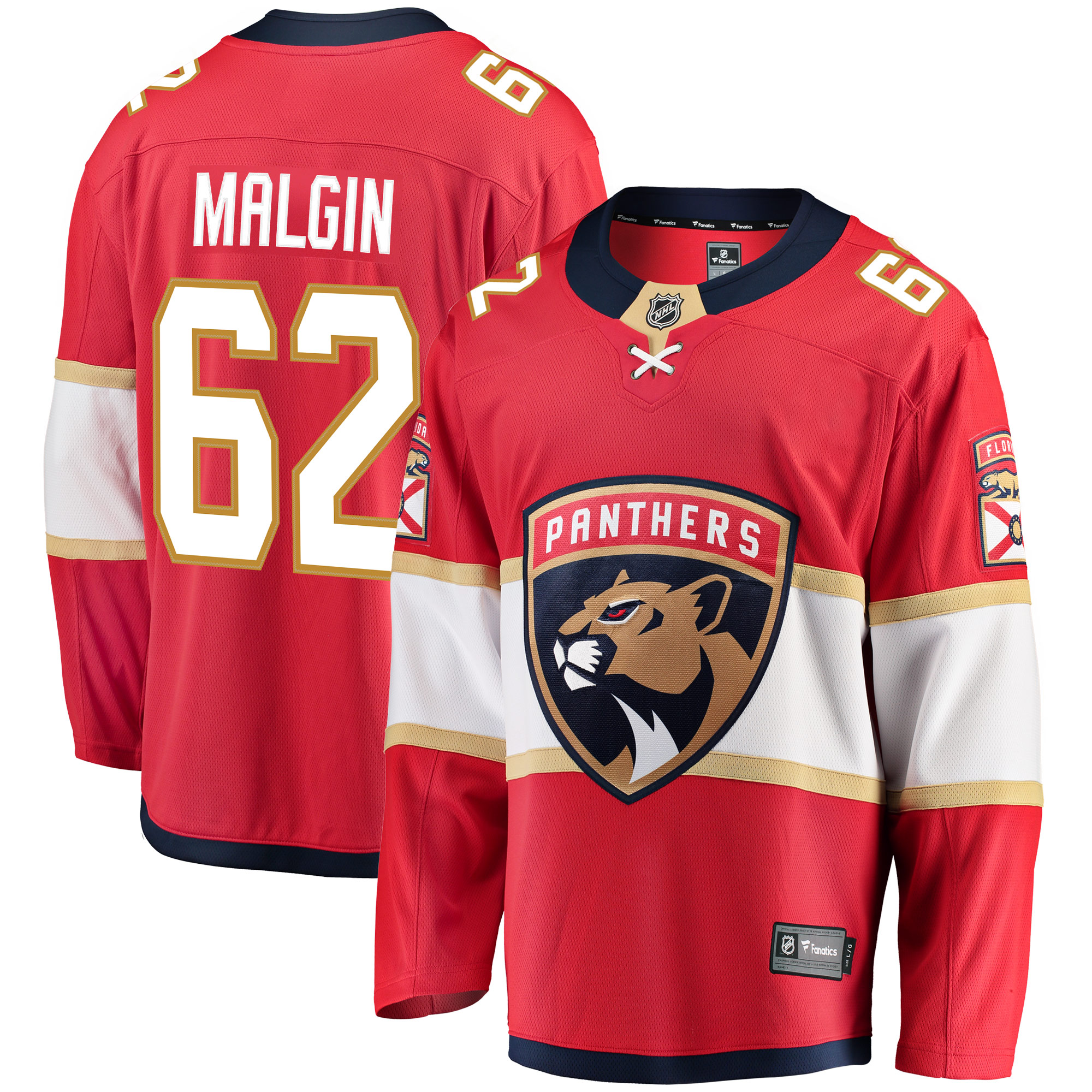 Denis Malgin Florida Panthers Fanatics Branded Breakaway Jersey - Red